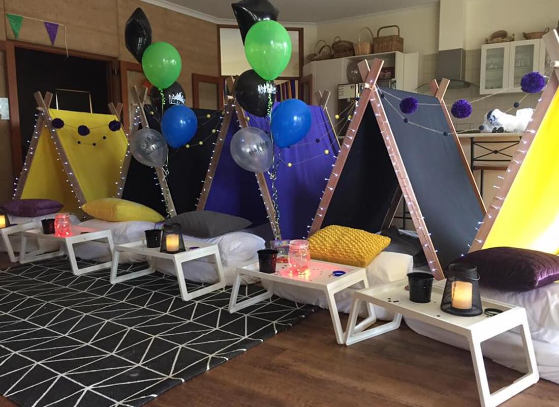 Teepee & Friends Slumber Party Hire - Kids Birthday Parties